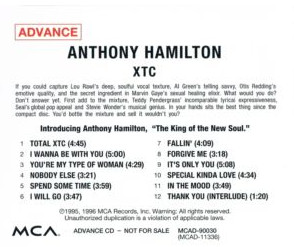 Anthony Hamilton The Point Of It All Full Album Free Music Streaming