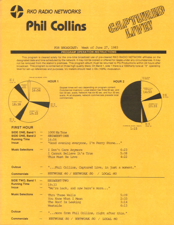 Captured Live Cl 783 A F By Phil Collins Full Album